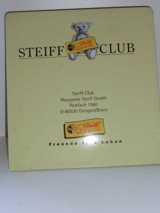 Steiff Club Metall - Schild Bild