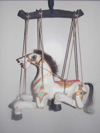 Marionette Pferd Antik Holzschitzerei Bild
