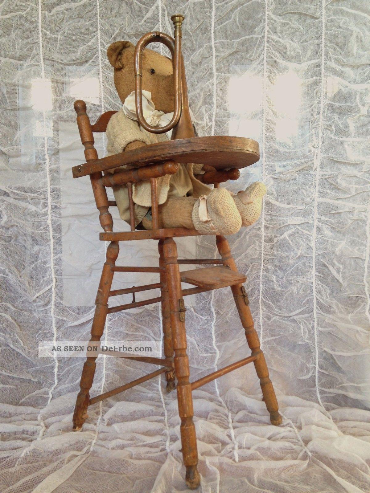 antiker hochstuhl stuhl puppenhochstuhl f puppe teddy frankreich shabby deko. Black Bedroom Furniture Sets. Home Design Ideas