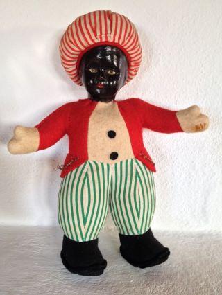 Antike Puppe,  Kee,  Pappmache,  Stoff Mit Holzwolle Gefüllt,  28 Cm Bild