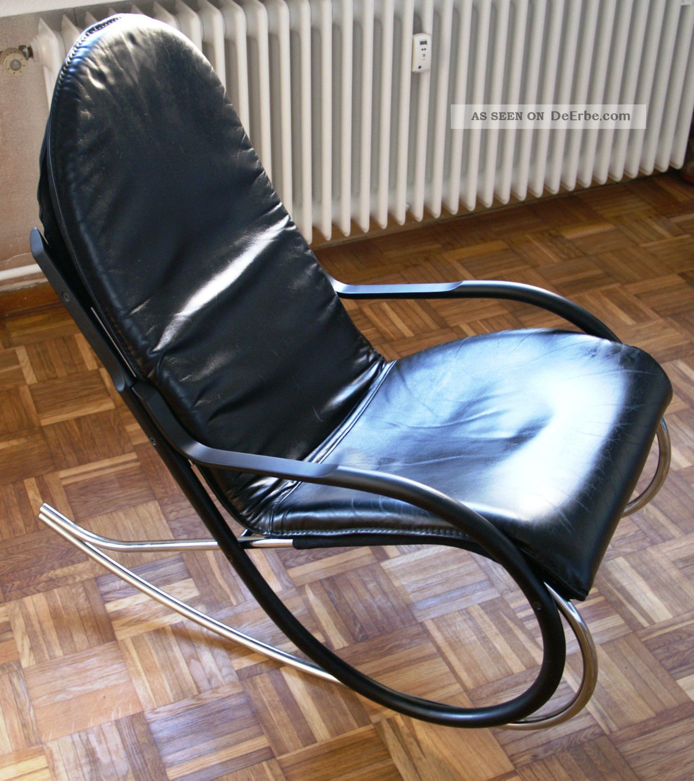 Paul tuttle schaukelstuhl rocking chair nonna black for Schaukelstuhl 1970