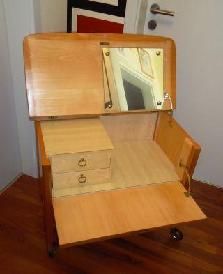 Furniture 50 / 60 S Raffinierte Wandelbare Schminktisch - Kommode_ Mid Century Bild