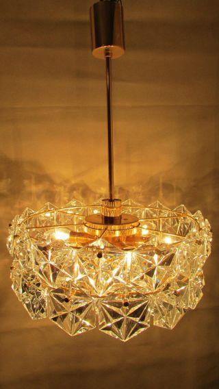 Design Kristallglas Lampe Chandelier Leuchte Kinkeldey 60er/ 70er 24 K Vergoldet Bild
