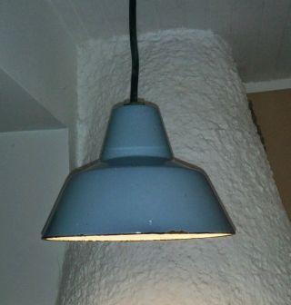 Werkstattlampe Industriedesign Emaille Bild