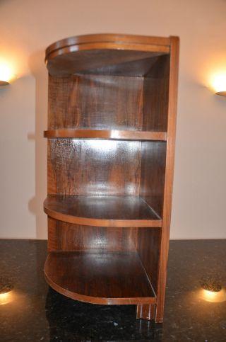 50er Eckregal,  Etagere Nussbaum Lounge Loft Deutsche Werkstätten Sideboard Bild