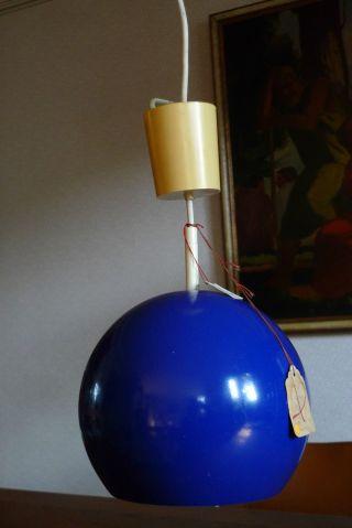 Stylische Blaue Pendelleuchte Hängelampe Deckenlampe Space Age Sputnik Vintage Bild