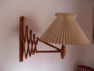 Orig.  Le Klint Teakholz Scherenlampe Poulsen Danish Design 60er 60s Bild