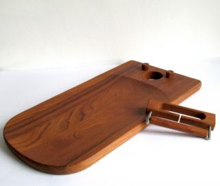 Teak Tablett Käsebrett Nissen Design Made In Denmark Cheese Tray Bild