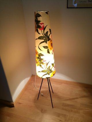 50er 60er Tripod Stehlampe Rockabilly Tütenlampe Lampe Stehleuchte Mid Century Bild