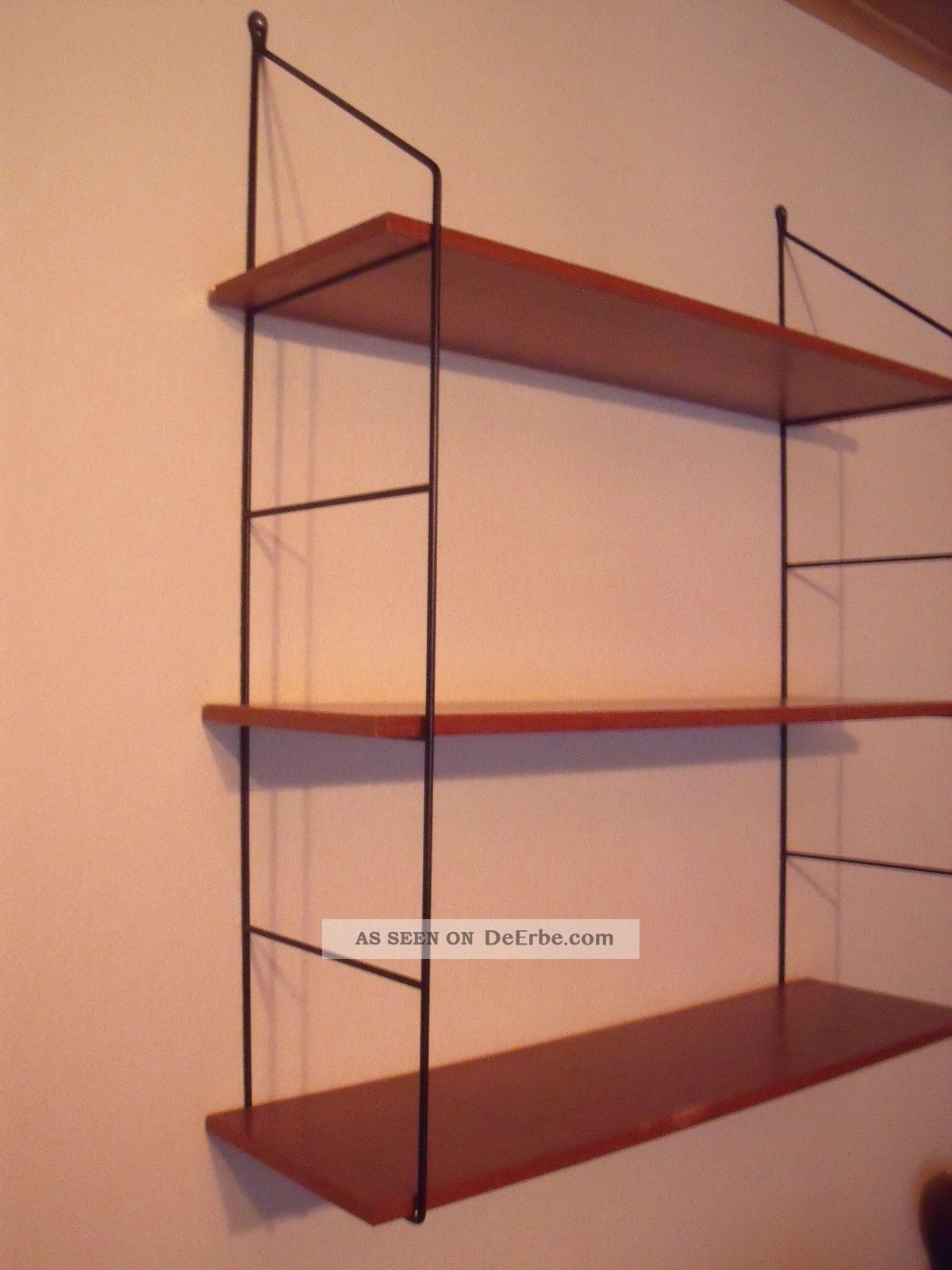 altes und seltenes string regal wand oder b cher regal regal syst 50 60er j. Black Bedroom Furniture Sets. Home Design Ideas
