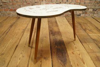 Rockabilly 50er Nierentisch Couchtisch Tisch Coffee Kidney Table Vintage Mosaik Bild