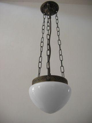 Art Déco Pendelleuchte Textilkabel Leuchte Bauhaus Jugendstil Art Deco Lampe Bild