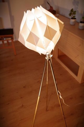 Tripod Steh Lampe Stil Danish Design Retro 60 70 Dreibein Stativ Space Age Tisch Bild