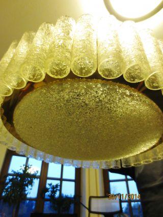 Orig.  Doria Deckenlampe,  Eisglaslampe,  70er J. ,  Space Age Bild