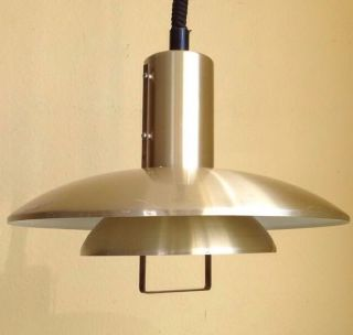 Lampe Belux Gold Deluxe Messing Pendant Lamp Danish Design Vintage Rar 70er Bild