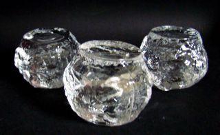 Kosta Boda Snowball Teelichter 3 Stk.  Designklassiker Ann Wärff 70er Top Bild