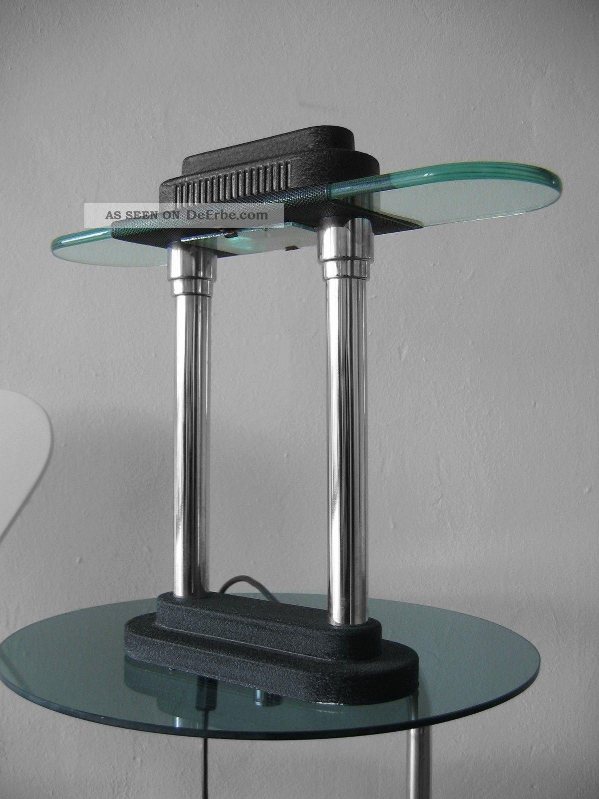 banker lamp chrom im art deco leuchte im stil von sottsass pausania memphis. Black Bedroom Furniture Sets. Home Design Ideas
