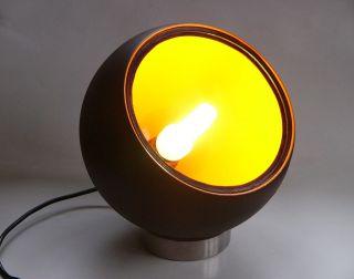 70s Panton Ära Grundig Kugel Boxen Lampe Orange/schwarz Loft Design Unikat Bild