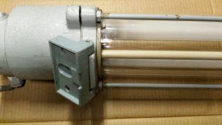 ExplosionsgeschÜtzte Lampe Werkstatt Loft Fabrik Ex Ddr Neon Bauhaus Vintage Bild