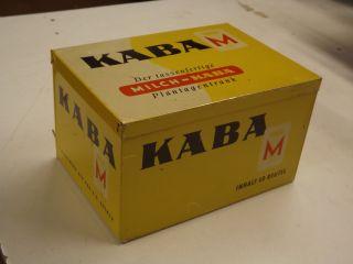 ))) ))  50er Jahre Kaba Blechdose 20x14cm)) )) )) Bild