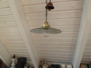 Emale,  Bauhaus Alte Antike Lampe,  Deckenlampe,  Werstattlampe,  Bunkerlampe Bild