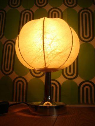 Gepflegte True Vintage 70er Cocoon Tischleuchte Lampe Bild