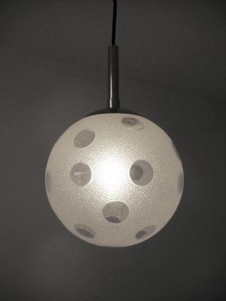 Schöne 70er Kugel Glas Leuchte Mit Punkten - Lampe Vintage Version,  Pendelleuchte Bild