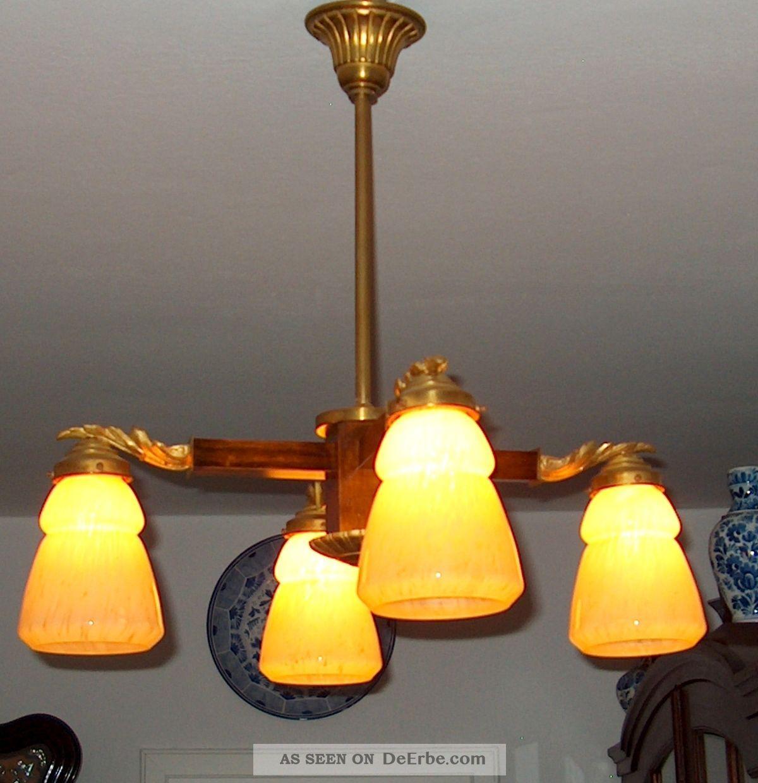 Jugendstillampe lampe l ster leuchter laterne - Lampe salon originale ...