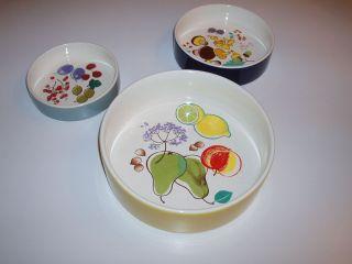 Porzellanschalen Melitta - 3 Schalen - Form 3 - 60ties Design - Gemarkt - Bild