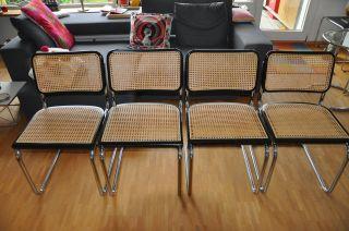 4 Stühle Freischwinger Marcel Breuer Thonet Bauhaus Eames Vitra Bild