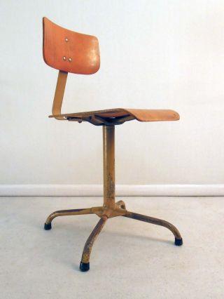 40er Jahre Werkstatt Bürostuhl Stuhl Architektenstuhl Chair - Rowac Loft Eiermann Bild