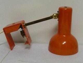 Kleine Orangefarbene Wandlampe 70er Jahre,  Verstellbar Bild