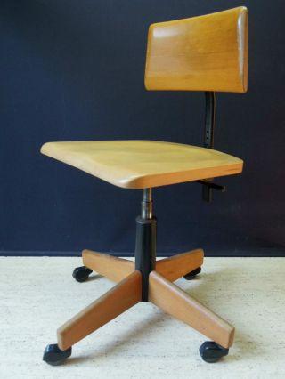 50er Jahre Stoll Giroflex Bürostuhl Schreibtisch Stuhl.  Eiermann Eames Jacobsen Bild