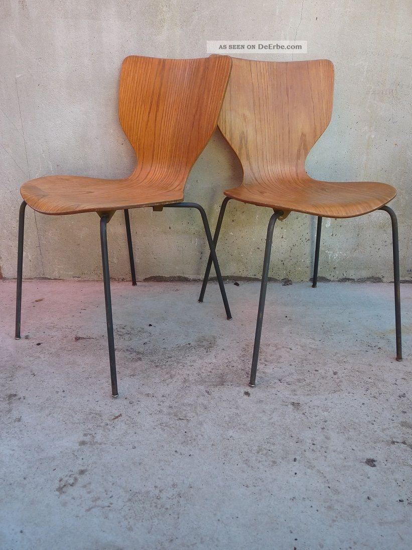 2x design teakstuhl made in d nemark antik 60er im arne jacobsen stil ameise. Black Bedroom Furniture Sets. Home Design Ideas