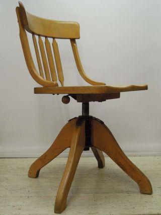 50er Jahre Federdreh Bürostuhl Schreibtisch Stuhl Kontorstuhl Chair - Jacobsen Era Bild