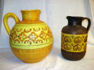 Aldo Londi,  2 X Fat Lava Keramik Vasen,  Rosenthal - Netter/bitossi,  Italien,  60er Bild