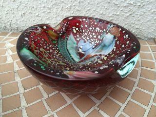 Murano SchÖner Design Glasschale Form & Farbe Mit Goldflocken Bild
