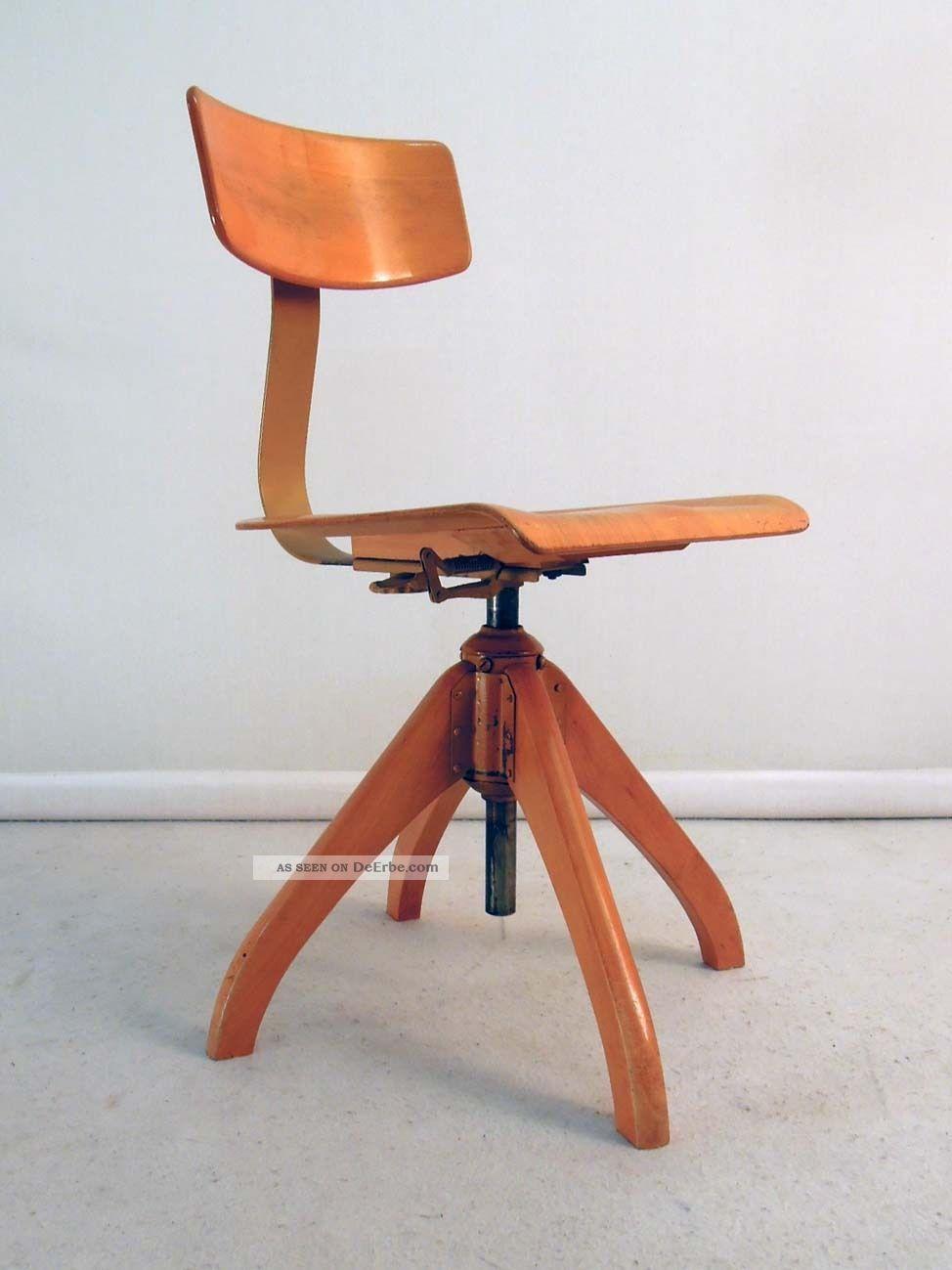 50er Jahre Ama Elastik Bürostuhl Stuhl Chair - Eiermann Jacobsen Eames Ers 1950-1959 Bild