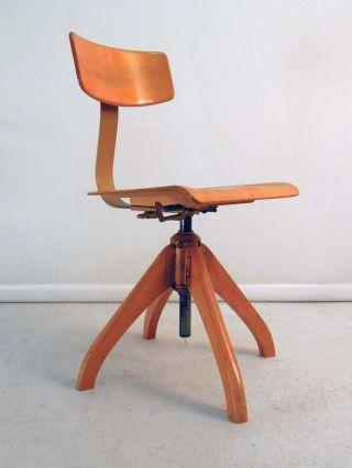 50er Jahre Ama Elastik Bürostuhl Stuhl Chair - Eiermann Jacobsen Eames Ers Bild