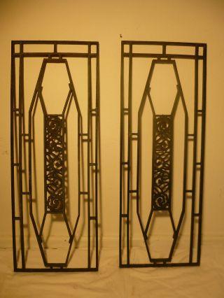 Antike TÜrgitter Fenstergitter Gitter Gusseisen Art Deco Bild