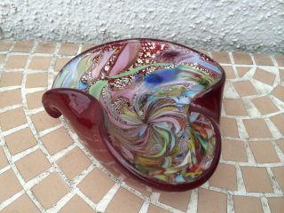 Murano SchÖner Design Glasaschenbecher Form & Farbe Mit Goldflocken Bild