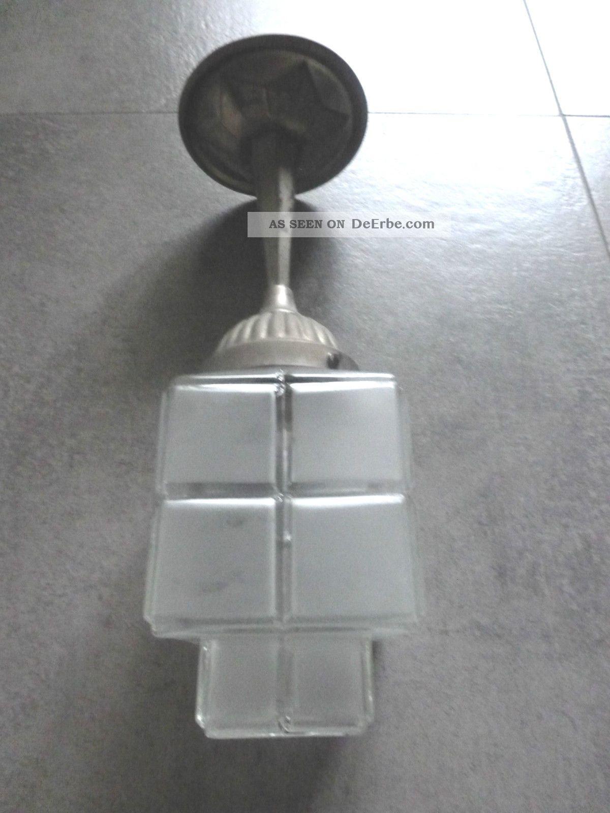 Schick Rar Art Deco Lampe Deckenlampe Bauhaus Lamp 1930 Glas Alu Top - Design 1920-1949, Art Déco Bild