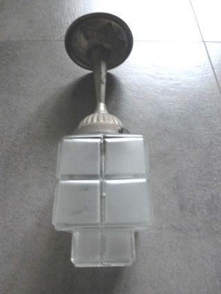 Schick Rar Art Deco Lampe Deckenlampe Bauhaus Lamp 1930 Glas Alu Top - Design Bild