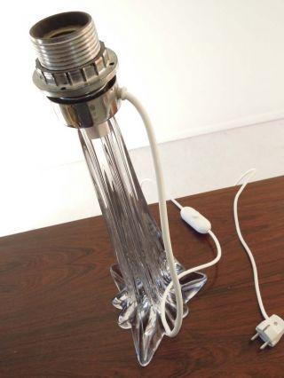 Murano Glas Lampe Lampenfuß 70er Jahre Tischlampe Stehlampe.  Lampada Vetri Glass Bild
