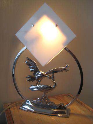 Art Deco Bauhaus Tischlampe Tischleuchte Glas Chrom
