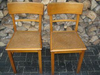 2x Art Deco Frankfurter Stuhl Kneipenstuhl Küchenstühle Bauhaus Shabby Bild
