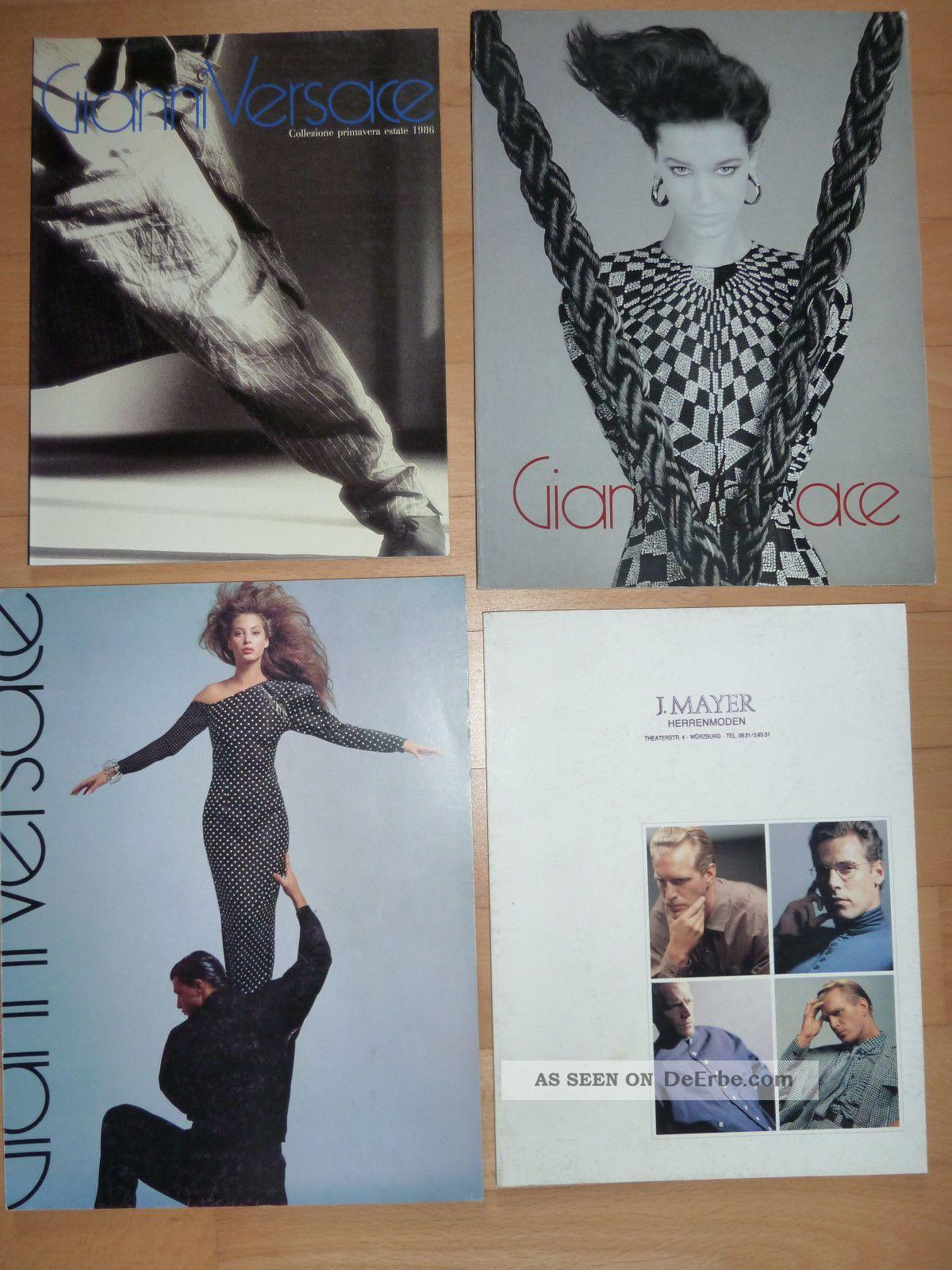 4 Versace Kataloge 1986 Und 1987 Design & Stil Bild