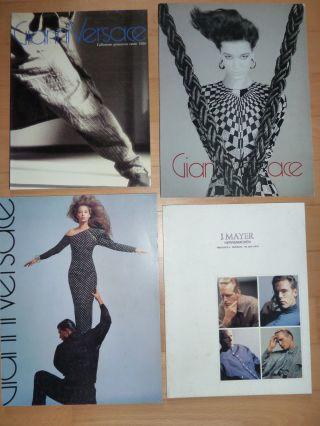 4 Versace Kataloge 1986 Und 1987 Bild