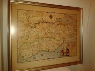 Altes Bild,  Alte Landkarte Im Holzrahmen Alter Goldrahmen Bilderrahmen Bild