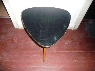 50er 60er Jahre Nierentisch Tisch Mid Century Nierentisch Ära Bild
